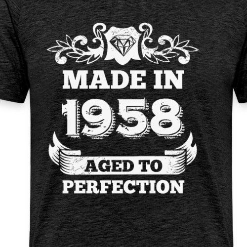 60th Birthday gift Made in 1958 Aged to Perfection - Men's Premium T-Shirt