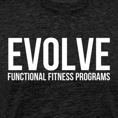evolve white - Premium-T-shirt herr