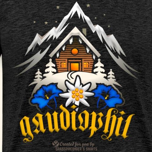 Apres Ski Sprüche Party T-Shirt Design gaudiophil - Männer Premium T-Shirt