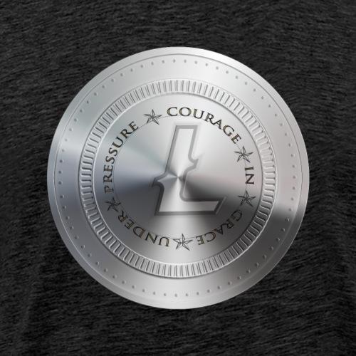 LITECOIN COURAGE IN GRACE UNDER PRESSURE - T-shirt Premium Homme