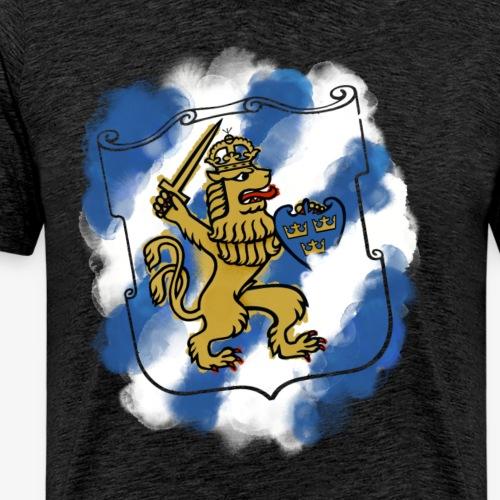 GBG Sköld By TheRawburt - Premium-T-shirt herr