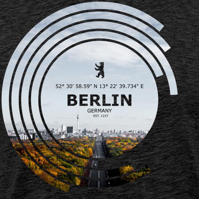 Berlin City Skyline Geometrische Form Kreis