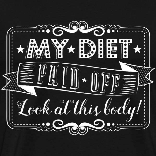 Handlettering My diet paid off (W)