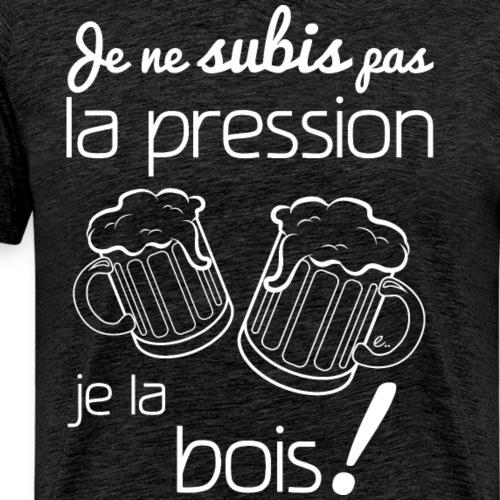 je ne subis pas la pression (blanc) - T-shirt Premium Homme