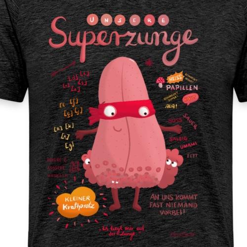 Superzunge *Anatomy Cartoon Art* - Männer Premium T-Shirt