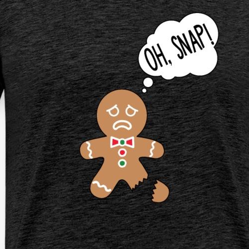 Gingerbread Man Oh Snap - Herre premium T-shirt