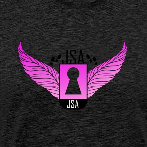 JSA keyhole collection pink - Premium T-skjorte for menn