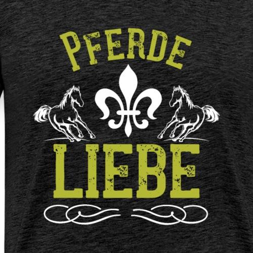 Pferde Liebe | Pferdeliebhaber Liebesbeweis - Männer Premium T-Shirt