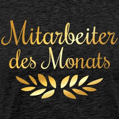 Mitarbeiter des Monats mit Lorbeerkranz (Goldgelb) - Männer Premium T-Shirt