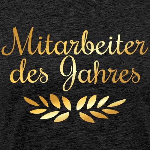 Mitarbeiter des Jahres Lorbeer (Goldgelb) - Männer Premium T-Shirt