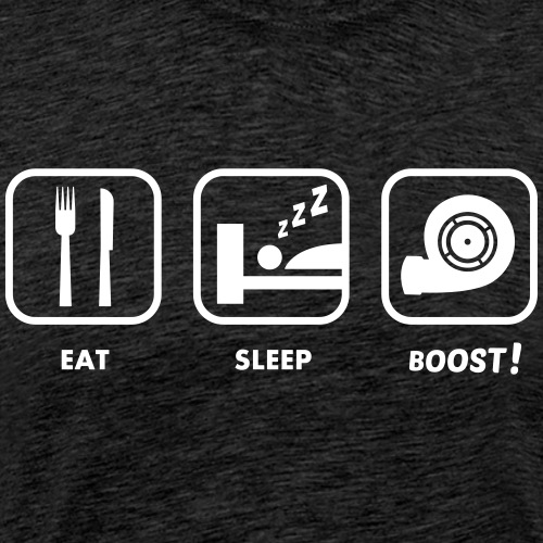JDM Eat, Sleep, BOOST! | T-shirts JDM - T-shirt Premium Homme