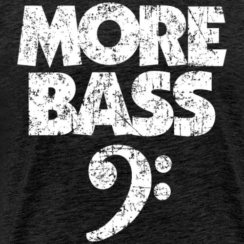More Bass (Vintage/Weiss) Bassisten - Männer Premium T-Shirt