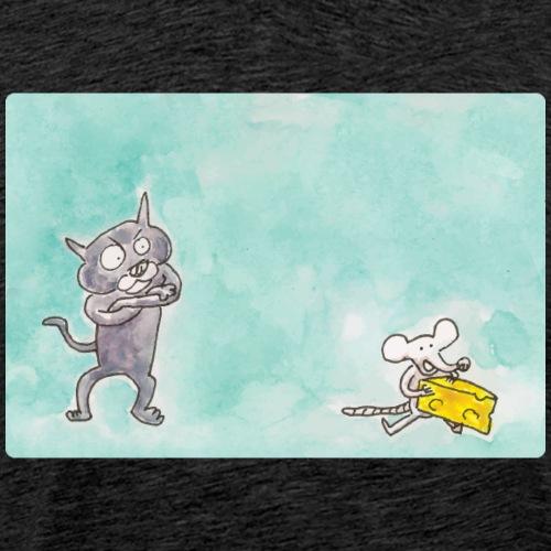 Le chat et la souris - T-shirt Premium Homme