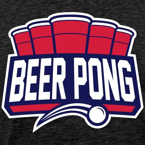Beer Pong Logo IX - Männer Premium T-Shirt