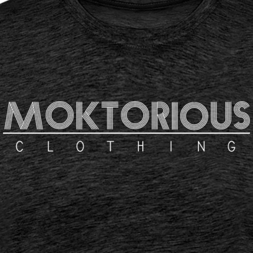 MOKTORIOUS CLOTHING - WHITE - VERTICAL - Männer Premium T-Shirt