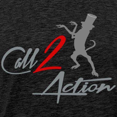 Call 2 Action | grau | Affe - Männer Premium T-Shirt