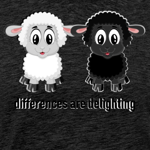 differences are delighting black - Männer Premium T-Shirt