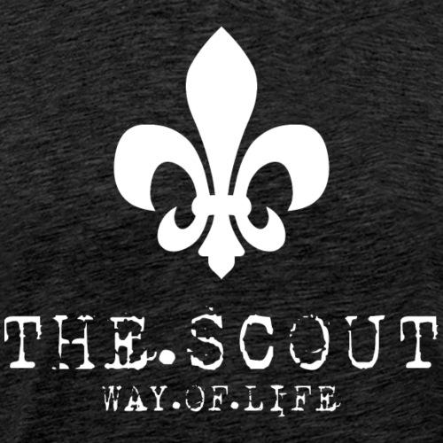 THE.SCOUT.WAY.OF.LIFE Typewriter mit Lilie Weiß - Männer Premium T-Shirt