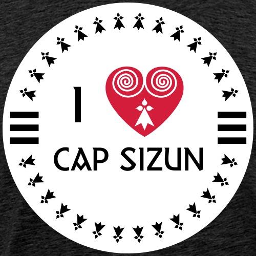 I LOVE CAP SIZUN - BRETAGNE - BREIZH - T-shirt Premium Homme