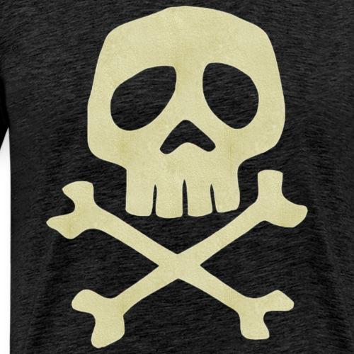 Danzig Style Captain Harlock Skull Crossbones / Jo - Men's Premium T-Shirt