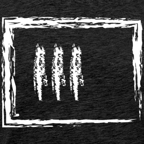 Wegzeichen 3 Min. warten - Kreide - Weiß - Männer Premium T-Shirt