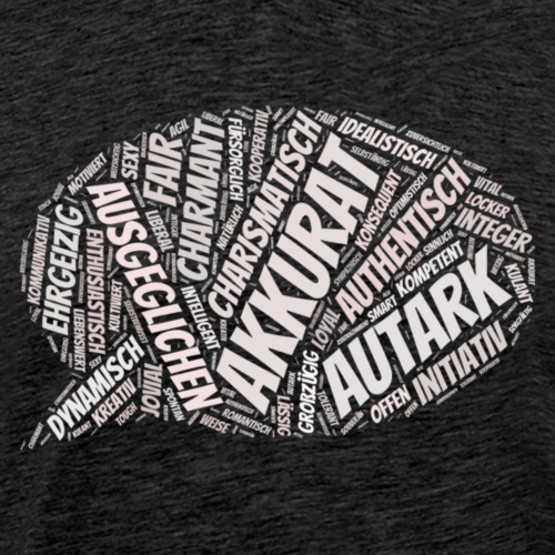 Charakter positiv guter Mensch - Männer Premium T-Shirt