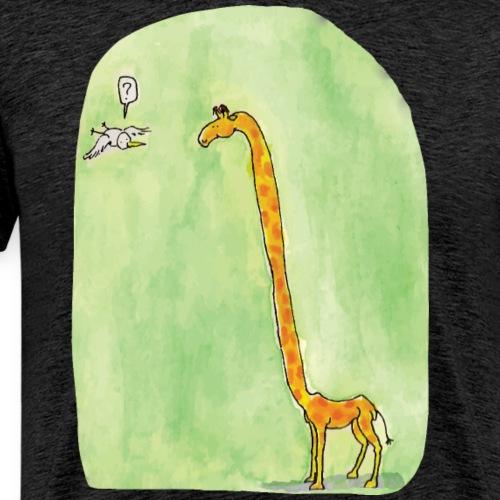 La girafe et l'oiseau - T-shirt Premium Homme