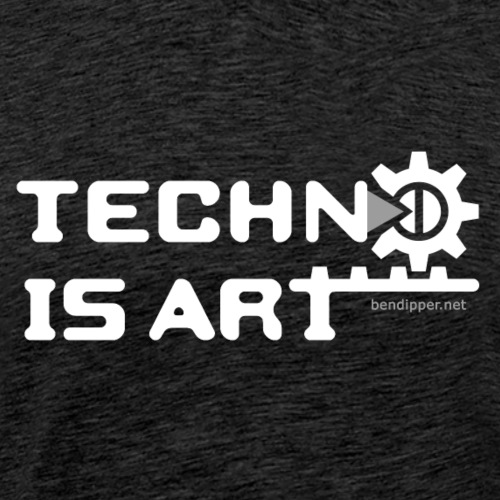 Techno is Art II - Männer Premium T-Shirt