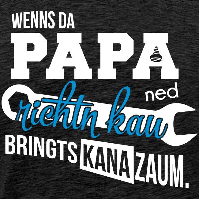 Vorschau: Da Papa wird's richtn - Männer Premium T-Shirt