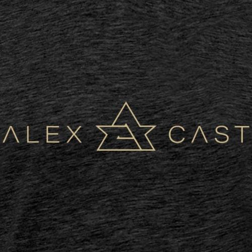 Alex Cast Official Logo Gold vaaka - Miesten premium t-paita