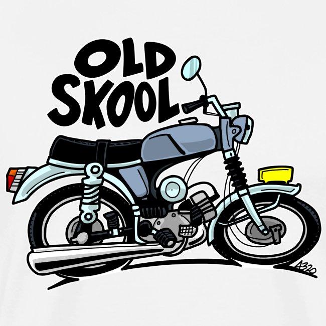 0897 brommer 50cc kleur OLD SKOOL