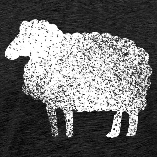 Lustiges Schaf Silhouette Grunge Geschenk Schäfer - Männer Premium T-Shirt