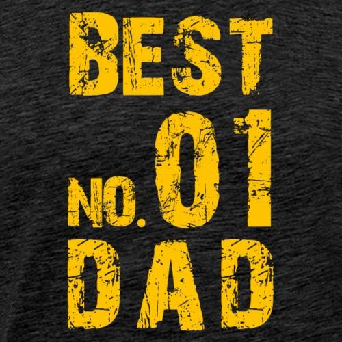 NO. 01 BEST DAD - Männer Premium T-Shirt