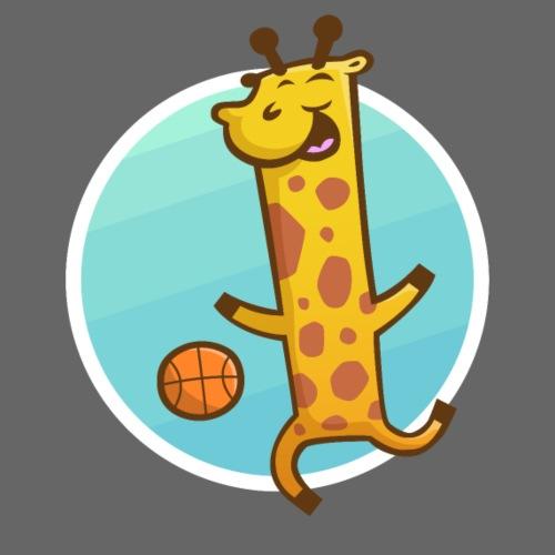 Basketball Giraffe - Männer Premium T-Shirt