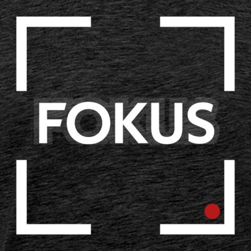 Fokus - Weiß - Männer Premium T-Shirt