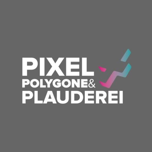Pixel Polygone Plauderei Logo Weiß - Männer Premium T-Shirt