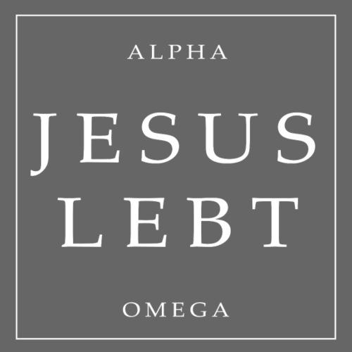 Jesus lebt / alpha omega - Männer Premium T-Shirt