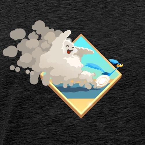 Rennender Vogel mit Wolke - Men's Premium T-Shirt