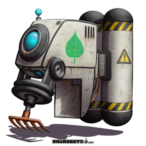 The L.E.A.F. Robot! (Leaf Eco Automated Friend). - Herre premium T-shirt