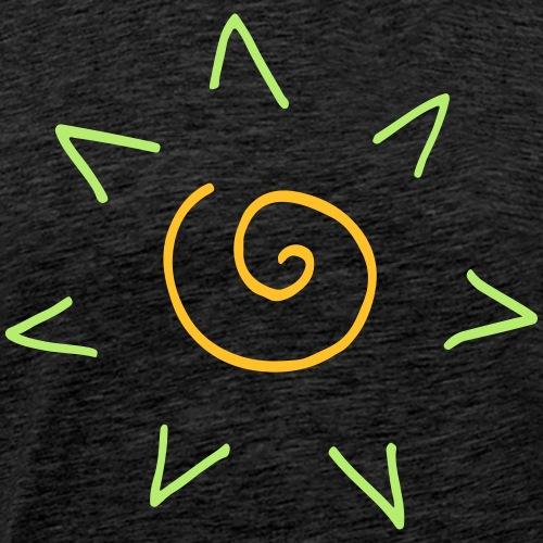 Spirale Sonne Sonnenschein Lustig Ethno Geschenk - T-shirt Premium Homme