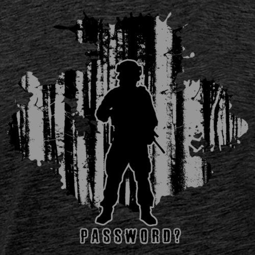 PASSWORD? - MILITARY tekstiles and gifts. - Miesten premium t-paita