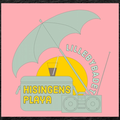 Hisingens playa pink - Premium-T-shirt herr