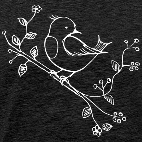 little Robin white - Männer Premium T-Shirt