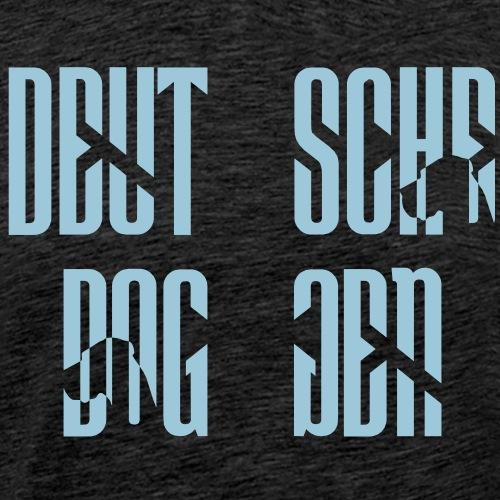 Jackenmotiv Doggenschrif - Männer Premium T-Shirt