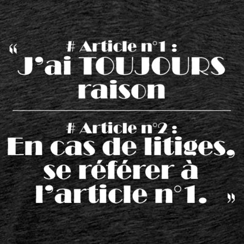 raison - T-shirt Premium Homme