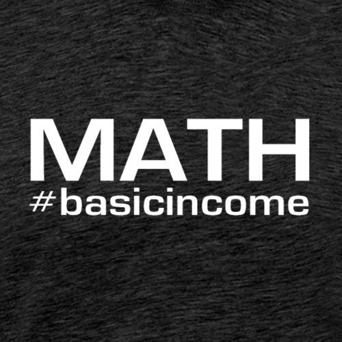 math white - Mannen Premium T-shirt