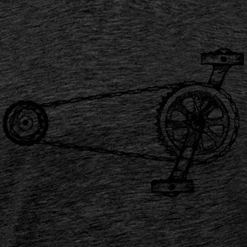Fahrradkette ohne Text - Fahrradantrieb - Männer Premium T-Shirt