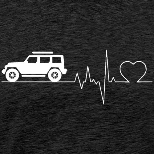Herzschlag Jeep Auto Sportwagen Shirt Geschenk - Männer Premium T-Shirt