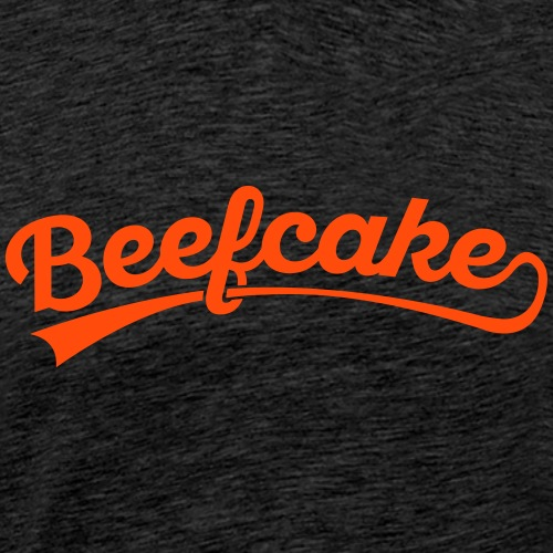 Beefcake text - Miesten premium t-paita