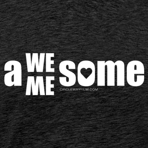 awesome we+me shirt – weiß